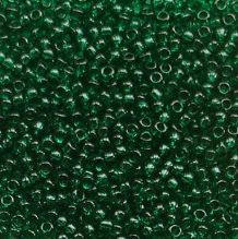 Toho 15/0 Seed Beads Transparent Green Emerald 939 - 5 grams